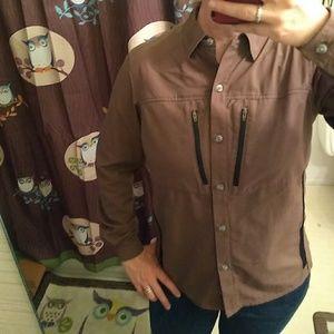 ExOfficio Brown Hiking Shirt